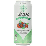 Steaz, Bev Tea Iced Grn Blbry Pmgrnt, 16 Fo, (Pack Of 12)