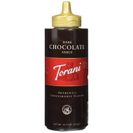 Torani, Sauce Sqz Choc Dark, 16.5 Oz, (Pack Of 4)
