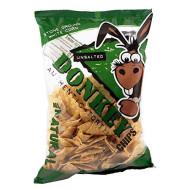 Donkey Chip, Chip Tortilla Unsalted, 14 Oz, (Pack Of 12)