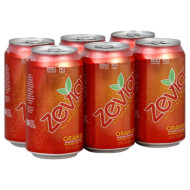 Zevia, Soda Orange Ntrl 6Pk, 72 Fo, (Pack Of 4)
