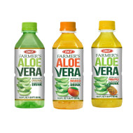 OKF Farmer's Aloe Vera Drink, Original, Mango and Pineapple, 16.9 Fluid Ounce (Pack of 20 each)