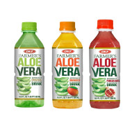 OKF Farmer's Aloe Vera Drink, Original, Mango and Pomegranate, 16.9 Fluid Ounce (Pack of 20 each)