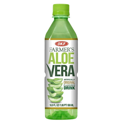 OKF Farmer's Aloe Vera Drink, Original, Mango and Coco, 16.9 Fluid Ounce (Pack of 20 each)