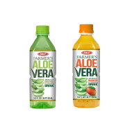 OKF Farmer's Aloe Vera Drink, Original and Mango, 16.9 Fluid Ounce (Pack of 20 each)