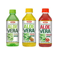 OKF Farmer's Aloe Vera Drink, Original, Pineapple and Pomegranate, 16.9 Fluid Ounce (Pack of 20 each)