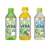 OKF Farmer's Aloe Vera Drink, Original, Pineapple and Coco, 16.9 Fluid Ounce (Pack of 20 each)
