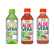 OKF Farmer's Aloe Vera Drink, Original, Pomegranate and Strawberry, 16.9 Fluid Ounce (Pack of 20 each)