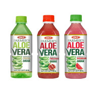 OKF Farmer's Aloe Vera Drink, Original, Pomegranate and Watermelon, 16.9 Fluid Ounce (Pack of 20 each)