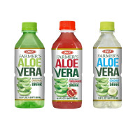 OKF Farmer's Aloe Vera Drink, Original, Pomegranate and Coco, 16.9 Fluid Ounce (Pack of 20 each)