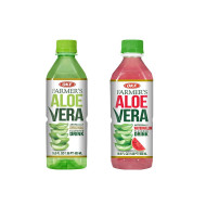 OKF Farmer's Aloe Vera Drink, Original and Watermelon, 16.9 Fluid Ounce (Pack of 20 each)