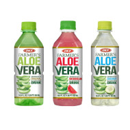 OKF Farmer's Aloe Vera Drink, Original, Coco and Watermelon, 16.9 Fluid Ounce (Pack of 20 each)