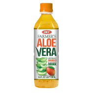 OKF Farmer's Aloe Vera Drink, Mango, 16.9 Fluid Ounce (Pack of 40)