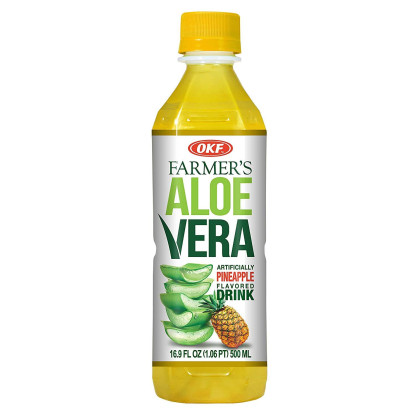 OKF Farmer's Aloe Vera Drink, Mango, Pineapple and Pomegranate, 16.9 Fluid Ounce (Pack of 20 each)