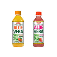 OKF Farmer's Aloe Vera Drink, Mango and Strawberry, 16.9 Fluid Ounce (Pack of 20 each)