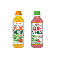 OKF Farmer's Aloe Vera Drink, Mango and Watermelon, 16.9 Fluid Ounce (Pack of 20 each)