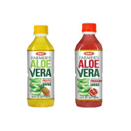 OKF Farmer's Aloe Vera Drink, Pineapple and Pomegranate, 16.9 Fluid Ounce (Pack of 20 each)