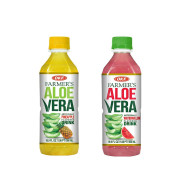 OKF Farmer's Aloe Vera Drink, Pineapple and Watermelon, 16.9 Fluid Ounce (Pack of 20 each)