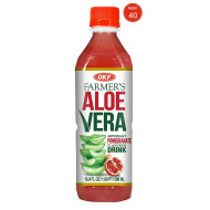 OKF Farmer's Aloe Vera Drink, Pomegranate, 16.9 Fluid Ounce (Pack of 40)