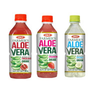 OKF Farmer's Aloe Vera Drink, Pomegranate, Strawberry and Coco, 16.9 Fluid Ounce (Pack of 20 each)