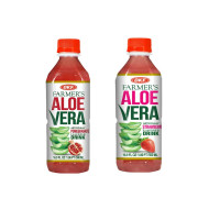 OKF Farmer's Aloe Vera Drink, Pomegranate and Strawberry, 16.9 Fluid Ounce (Pack of 20 each)
