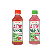 OKF Farmer's Aloe Vera Drink, Pomegranate and Watermelon, 16.9 Fluid Ounce (Pack of 20 each)