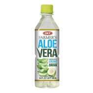 OKF Farmer's Aloe Vera Drink, Coco, 16.9 Fluid Ounce (Pack of 40)
