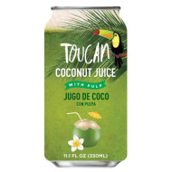 TOUCAN COCONUT WATER W/ PULP IN CAN - 24 x 17.6oz