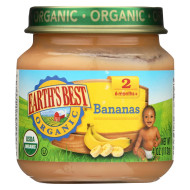 Earth'S Best Organic Bananas Baby Food - Stage 2 - Case Of 12 - 4 Oz.