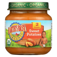 Earth'S Best Organic Sweet Potatoes Baby Food - Stage 2 - Case Of 12 - 4 Oz.