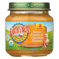 Earth'S Best Organic Sweet Potato And Chicken Dinner Baby Food - Stage 2 - Case Of 12 - 4 Oz.