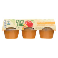 Santa Cruz Organic Apple Sauce - Apricot - Case Of 12 - 4 Oz.