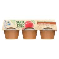Santa Cruz Organic Apple Sauce - Cinnamon - Case Of 12 - 4 Oz.