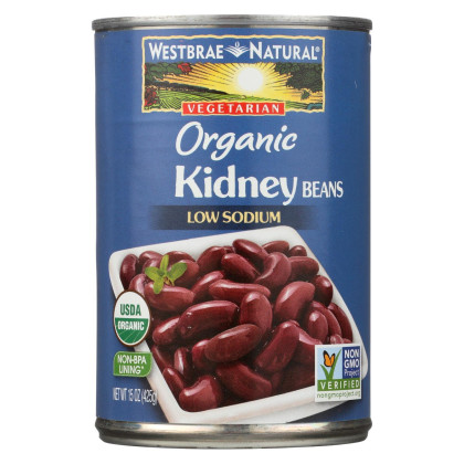 Westbrae Foods Organic Kidney Beans - Case of 12 - 15 oz.