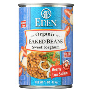Eden Foods Baked Beans with Sorghum and Mustard Organic - Case of 12 - 15 oz.