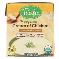 Pacific Natural Foods Condensed Soup - Cream Of Chicken - Case Of 12 - 12 Oz.