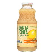 Santa Cruz Organic Juice - Lemon - Case Of 12 - 16 Fl Oz.