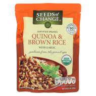 Seeds of Change Organic Quinoa and Brown Rice with Garlic - Case of 12 - 8.5 oz.
