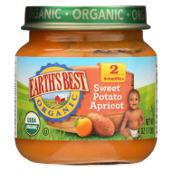 Earth'S Best Organic Sweet Potato Apricot Baby Food - Stage 2 - Case Of 12 - 4 Oz.