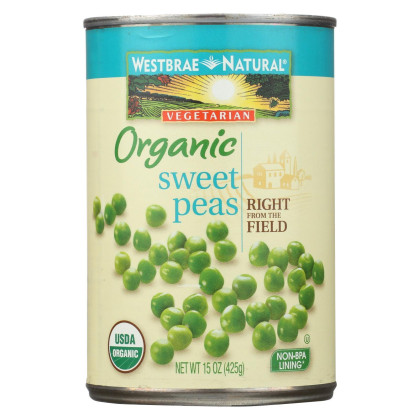 Westbrae Foods Sweet Peas - Sweet Peas - Case of 12 - 15 oz.