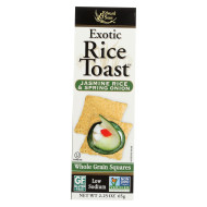 Edward and Sons Exotic Rice Toast - Jasmine Rice and Spring Onion - Case of 12 - 2.25 oz.