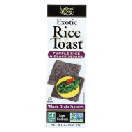 Edward and Sons Exotic Rice Toast - Purple Rice and Black Sesame - Case of 12 - 2.25 oz.