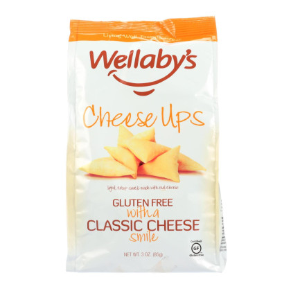 Wellaby's Cheese Ups - Classic Cheese - Case of 6 - 3 oz.
