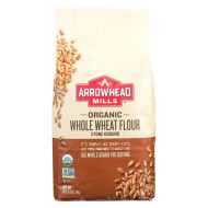 Arrowhead Mills Organic Stone Ground Whole Wheat Flour - Case of 6 - 5