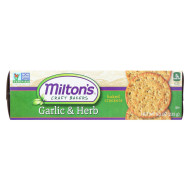Milton'S Crackers - Roasted Garlic And Herbs - Case Of 12 - 8.3 Oz.
