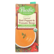 Pacific Natural Foods Organic Roasted - Red Pepper And Tomato Soup Light In Sodium - Case Of 12 - 32 Fl Oz.