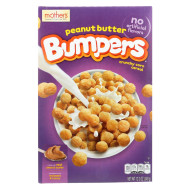 Mother's Bumpers Crunchy Corn Cereal - Peanut Butter - Case of 14 - 12.3 oz.