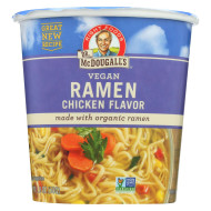 Dr. Mcdougall'S Vegan Ramen Soup Big Cup With Noodles - Chicken - Case Of 6 - 1.8 Oz.