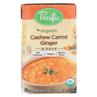 Pacific Natural Foods Carrot Ginger Soup - Organic Cashew - Case Of 12 - 17.6 Oz.