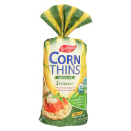 Real Foods Organic Corn Thins - Sesame - Case of 6 - 5.3 oz.