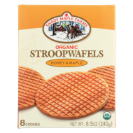 Shady Maple Farms Organic Honey And Maple Waffle Cookie - Case Of 8 - 8.5 Oz.